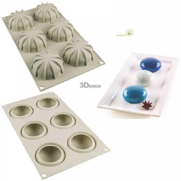 Stampo Mini Goccia per tortine del diametro di 7 cm da Silikomart