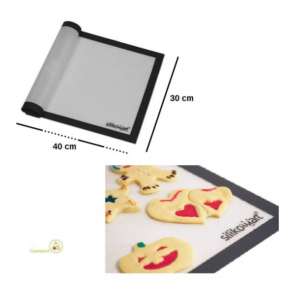 Tappeto Antiaderente in fibra di vetro, lungo 40 cm e largo 30 cm, Fiberglass 5 da Silikomart