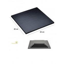 Base nera per torta o vassoio sotto-torta quadrato nero, cakeboard nero lato 20 cm