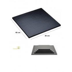 Base nera per torta o vassoio sotto-torta quadrato nero, cakeboard nero lato 40 cm