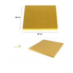 Vassoio sottotorta Quadrato dorato 25 cm