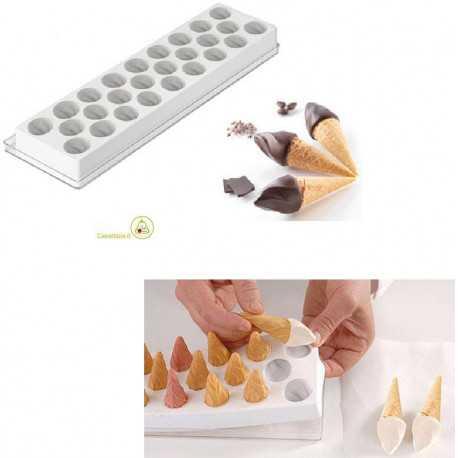 Stampo per gelati Fiamma da Silikomart a forma di fiamma per cialde a forma di cono