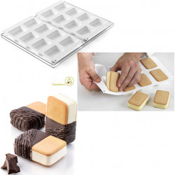 Set 2 Stampi Gelati mini Doppio Biscotto o mini Double da Silikomart