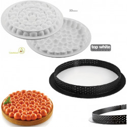 Kit Crostata Bolle o Torta Tarte Ring Bubble da 19 cm da Silikomart