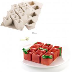 Stampo in silicone Mosaico tridimensionale per torta di Cubetti lato 5 cm da Silikomart
