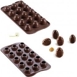 Stampo cioccolato ovetti tridimensionali a spirale o Choco Spiral da Silikomart