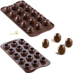 Stampo cioccolato ovetti tridimensionali a colatao Choco Drop da Silikomart