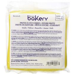 500 g Pasta di zucchero Gialla Decora