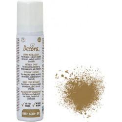 75 ml di colorante alimentare spray effetto metallizzato colore oro da Decora