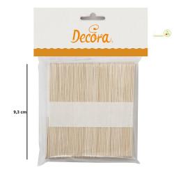 100 Bastoncini stecco in legno di betulla per gelato artigianale lunghi 9 cm