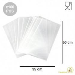 100 Buste neutre grandi larghe 35 cm lunghe 50 cm in polietilene neutro