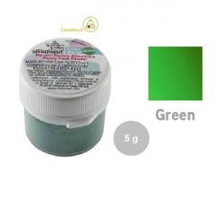 5 g Colorante alimentare in polvere verde perlato da Silikomart