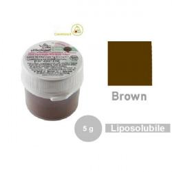 5 g Colorante alimentare in polvere liposolubile marrone da Silikomart