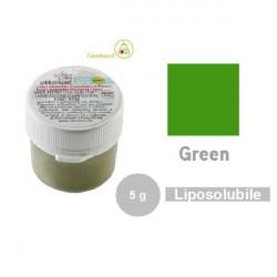 5 g Colorante alimentare in polvere liposolubile verde da Silikomart