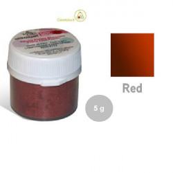 5 g Colorante alimentare in polvere rosso perlato da Silikomart