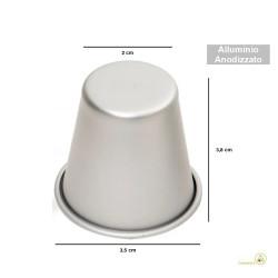 Formina Babà Mignon o Babarein Mignon in alluminio anodizzato diametro 3 cm