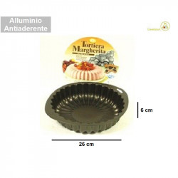 Stampo tortiera a forma di Margherita in alluminio antiaderente di diametro 26 cm