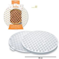 Stampo a griglia in plastica per decorare crostate di diametro 30 cm da Decora