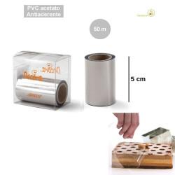 Rotolo o Bobina in Pvc per alimenti, alta 50 mm, lunga 50 m, da Decora