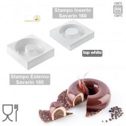 Stampo Savarin Tortaflex Ciambella Lady Qeen in silicone bianco da SIlikomart