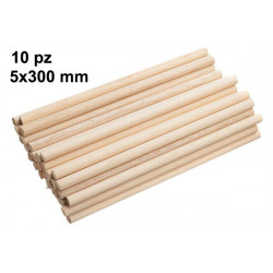 10 Bastoncini in legno 30x0,5cm
