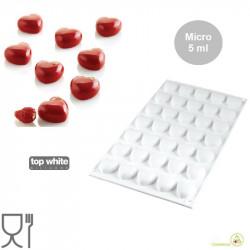 Stampo in silicone Micro Love per cuoricini da 5 ml di Silikomart