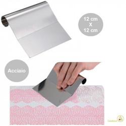 Spatola per stendere preparanti o raschia per cioccolato in Acciaio inox da 12 cm di Silikomart