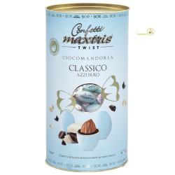 Cilindro confetti Twist Maxtris da 100 g colore celeste