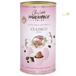 Cilindro confetti Twist Maxtris da 100 g colore rosa