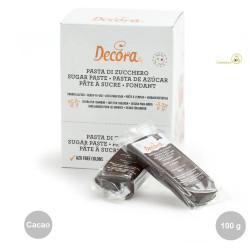 100 g pasta di zucchero color cacao o marrone scuro da Decora