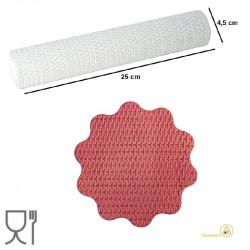 Mattarello decorativo bianco effetto cestino lunghezza 25 cm e larghezza 4,5 cm