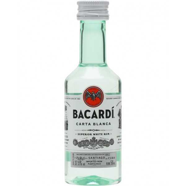 Rum Bacardi Carta Blanca Mignon cl 5