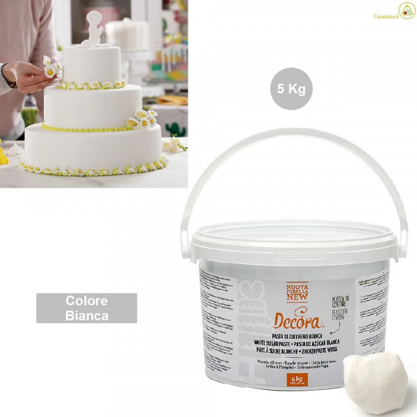 5 Kg Pasta di zucchero Bianca Decora