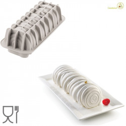 Stampo Tronchetto di Lana lungo 24 cm, largo 9 cm, alto 8 cm in silicone grigio da Silikomart