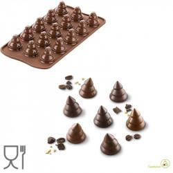 Stampo in silicone Alberi di cioccolato SCG054 da Silikomart