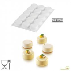 Stampo tondo mignon Essenziale 30 ml in silicone da Silikomart