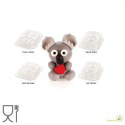 Stampo Cioccolato Koala o Kit Koala 3D Termoformato da Silikomart
