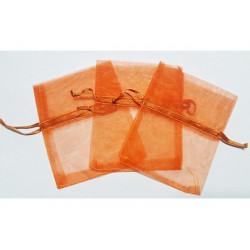10 Sacchetti in organza per confetti Arancio