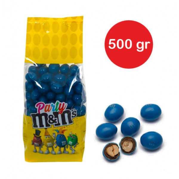 Sacchetto M&M's con arachidi Blu gr 500