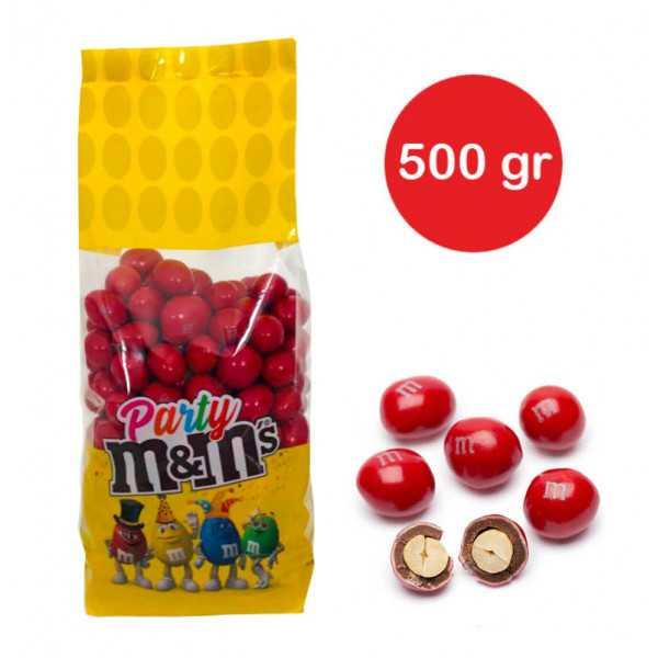 Sacchetto M&M's con arachidi Rosso gr 500