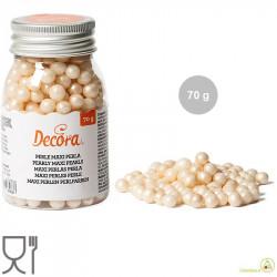 Perle di zucchero maxi bianco perla, ideali per decorare torte e dolci da Decora