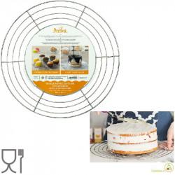 Griglia raffredda torte e di colaggio tonda in acciaio inox diametro 32 cm