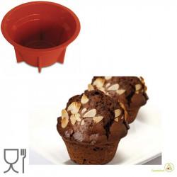 Stampo muffin monoporzione grande in silicone di diametro 9 cm ed altezza 5 cm da Silikomart