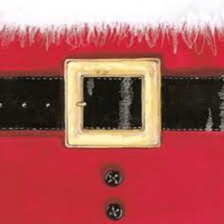 Tovaglioli 33x33 - 3 Veli pz 20 tema Santa's Belt