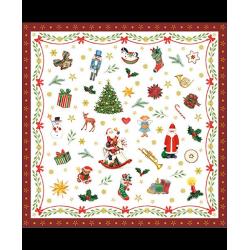 Tovaglioli 33x33 - 3 Veli pz 20 tema Ornaments Red