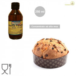 Flacone da ml 250 di aroma panettone al alta resa 1:2000 da Madma, per uso professionale