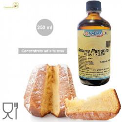 Aroma pandoro in flacone da 250 ml ad alta resa 1:2000, uso professionale da Madma
