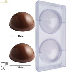 Stampo Cioccolato Sfera da 100 g di diametro 98 mm in policarbonato professionale