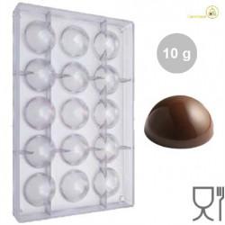 Stampo Cioccolato Sfera da 10 g di diametro 38 mm in policarbonato professionale
