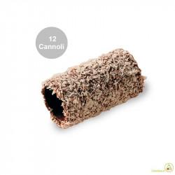 12 Cannoli Baby al Cocco di pasta frolla ricoperti di fondente e cocco rapè